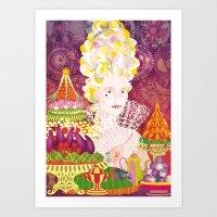 marie antoinette Art Prints featuring Marie-Antoinette by Caroline Krzykowiak