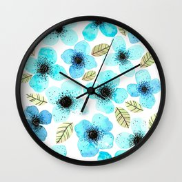 Lilly Blue Wall Clock