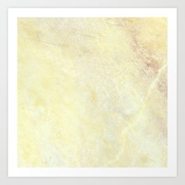 Marble with Okra Threads Art Print