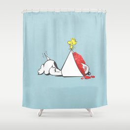 sno-cone of shame Shower Curtain