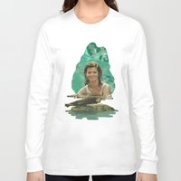 seal Long Sleeve T-shirts featuring Seal Girl by JamesMakeArt