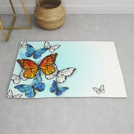 Background with Monarchs and Morpho Rug