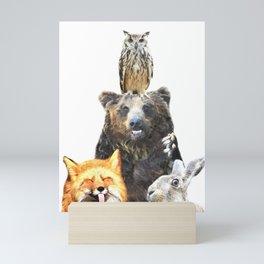 Woodland Animal Friends Mini Art Print