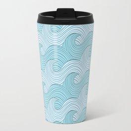 Blue Sea Waves Travel Mug