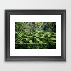 Garden Maze Framed Art Print