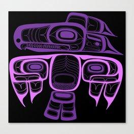 Tlingit thunderbird purple Canvas Print