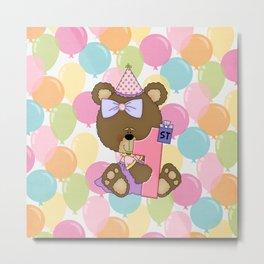 Happy 1st Birthday Little Bear Metal Print