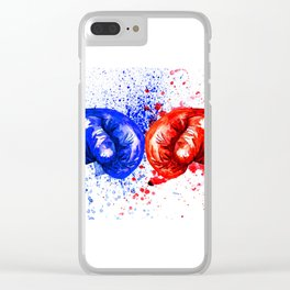 Boxing Gloves Clear iPhone Case