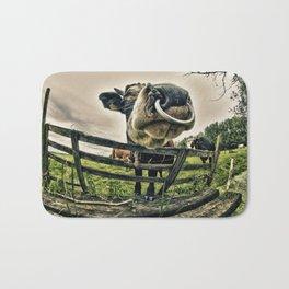 Holy cow its a bull Bath Mat