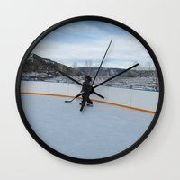 skate Wall Clocks featuring skate  by smilingbug