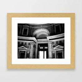 Halls of the Past Framed Art Print