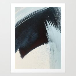 Like A Gentle Hurricane [2]: a minimal, abstract piece in blues and white by Alyssa Hamilton Art Art Print