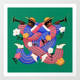 Mariachi Love 2 Art Print