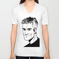 stargate V-neck T-shirts featuring Jack O'Neill by Liv Moy