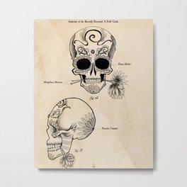 Anatomy of the Recently Deceased Metal Print
