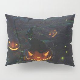 Jacks & Witch Cats Pillow Sham