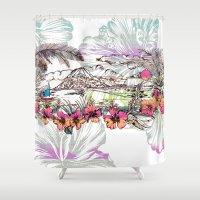 sail Shower Curtains featuring Sail Away by Vikki Salmela