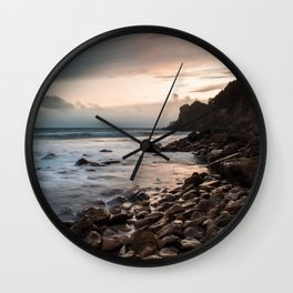 Sunset Storms Wall Clock