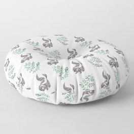 Skunk & Fern Floor Pillow