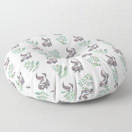 Skunk & Fern Floor Pillow