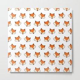 Orange fox pattern Metal Print