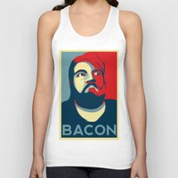 bacon Tank Tops featuring BACON by MezmoreyezGaming