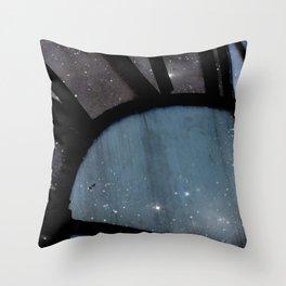 Starry Night - Clock Tower Throw Pillow