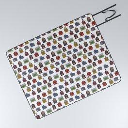 Barn Quilt Illustration Picnic Blanket