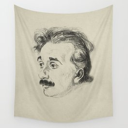Albert Einstein, illustrated in 1923 Wall Tapestry