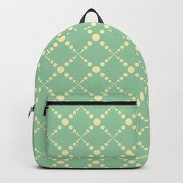Green yellow geometrical diamond polka dots pattern Backpack