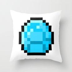 8bit pixelated diamond Throw Pillow