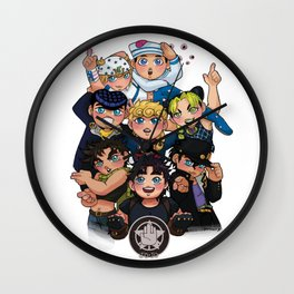 {JoJo} Hero Pile Wall Clock