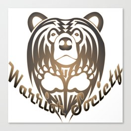 Warrior Society (Bear) Canvas Print