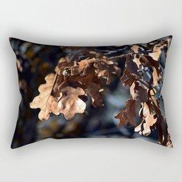 Winter oak leaves Rectangular Pillow