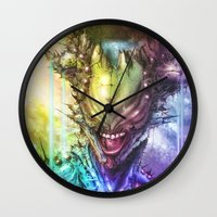 earth Wall Clocks featuring Earth by Vincent Vernacatola
