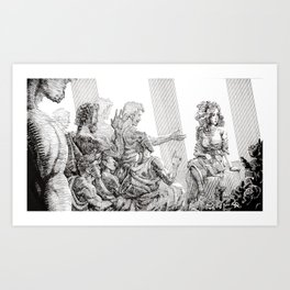 The Odyssey: Penelope and Suitors Art Print