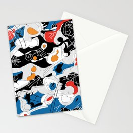 sizzle kinks of curved lines Stationery Cards