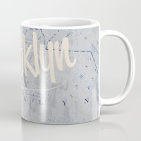 brooklyn Mugs featuring Brooklyn by Dweezle