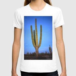 Blue cactus T-shirt