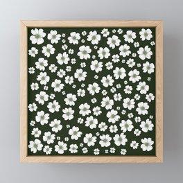 Dogwood Flowers Framed Mini Art Print