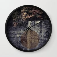 fall Wall Clocks featuring Fall by Pepe Rodriguez