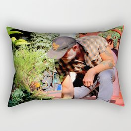 The Gardener Next Door Rectangular Pillow
