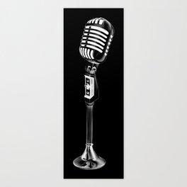 Vintage Microphone Creation Art Print