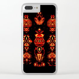 Tribal Totem Clear iPhone Case