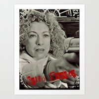 river song Art Prints featuring River Song; Hello Sweetie. by Art Corner
