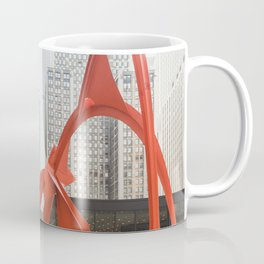 Chicago with a Splash of Red Coffee Mug