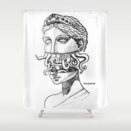 Greek Renaissance Octopus Shower Curtain