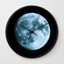 Moon on black background – Space Photography Wall Clock