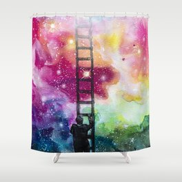Show me the way out of this darkness Shower Curtain
