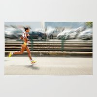 sport Area & Throw Rugs featuring Sport by Sébastien BOUVIER
